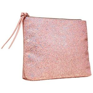 Sephora collection pink glitter makeup bag
